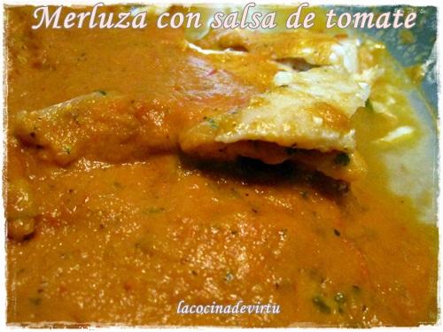 Merluza con salsa de tomate lacocinadevirtu - Cocinar merluza en salsa ...
